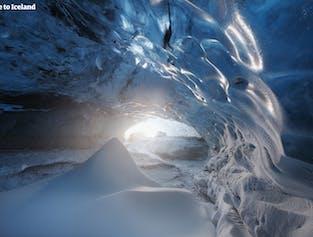 Tour de 3 días a la cueva de hielo, Círculo Dorado, Senderismo en el glaciar & Auroras boreales