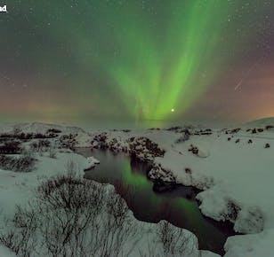 Vacaciones de 4 días en invierno | Auroras boreales, Círculo Dorado, Costa Sur y Laguna Azul