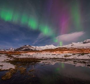 Tour de 4 días en invierno   Auroras boreales, Círculo Dorado, Costa Sur y Laguna Azul