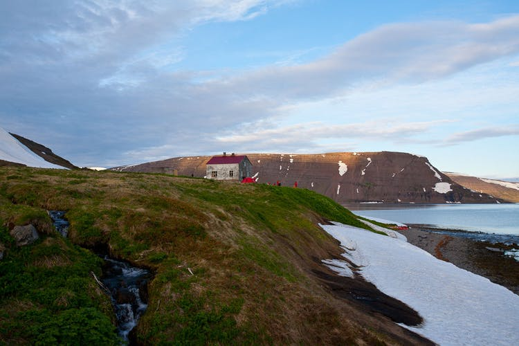 A lonely house in a beautiful setting in the Westfjords.