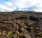 The rugged lava fields of North Iceland, close to mountains Hverafell and Hvannfell.
