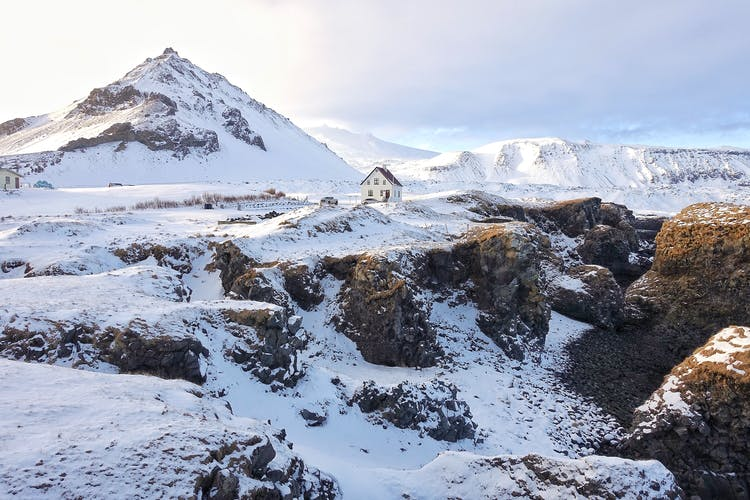 Snæfellsnes is a peninsula that stretches 90 kilometres from the west of Iceland.