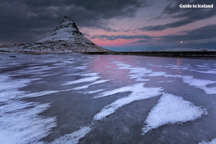 Kirkjufell, in English, is 'Church Mountain' and is 463 meters high.