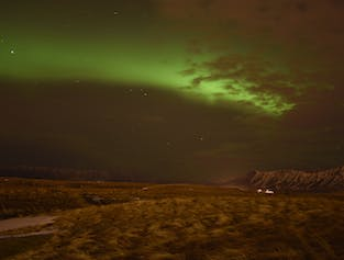 Northern Lights on Viðey Island