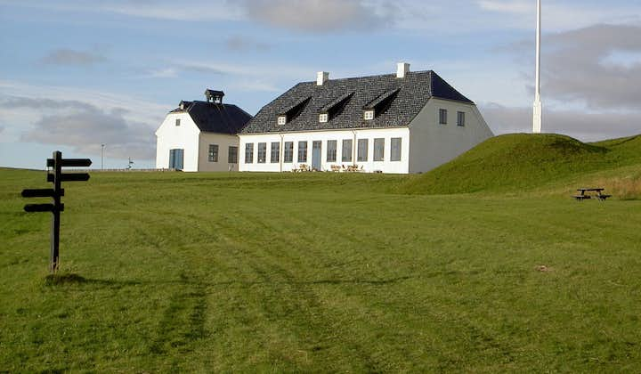 One of the few buildings on Viðey Island