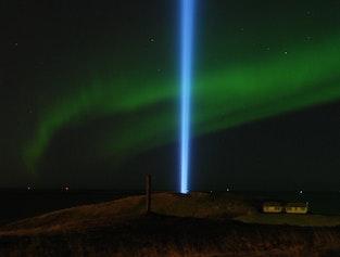 Imagine Peace & Northern Lights on Viðey