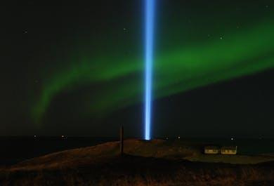 Imagine Peace & Northern Lights on Videy Island
