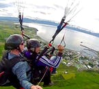 Paragliders have their own perspective over Iceland's natural environment.