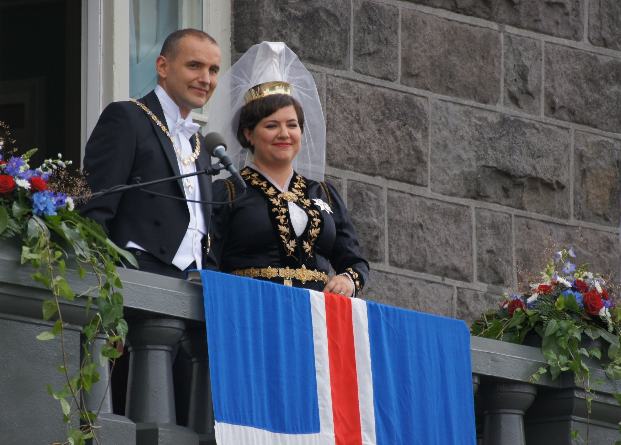 Eliza Reid, Iceland's first lady, and the president Guðni Th