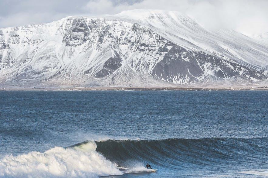 아이슬란드의 서핑