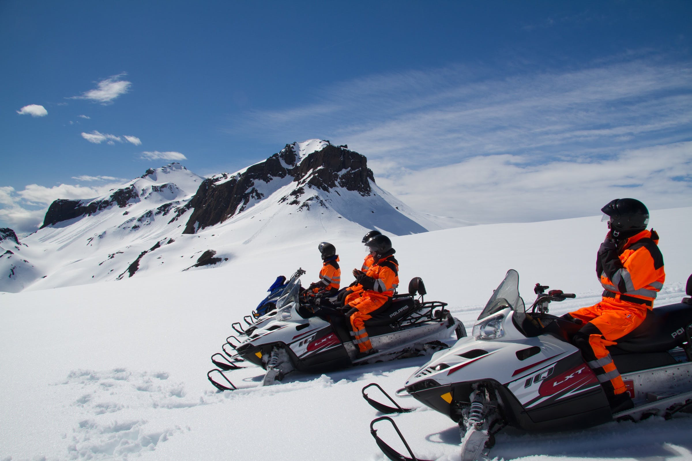 1 hour Snowmobile Tour on Glacier from Gullfoss Waterfall