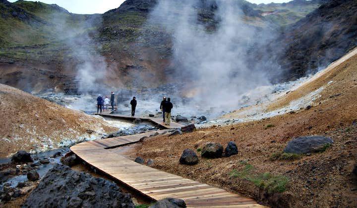 Krysuvík is one of the seething geothermal areas on the Reykjanes Peninsula.
