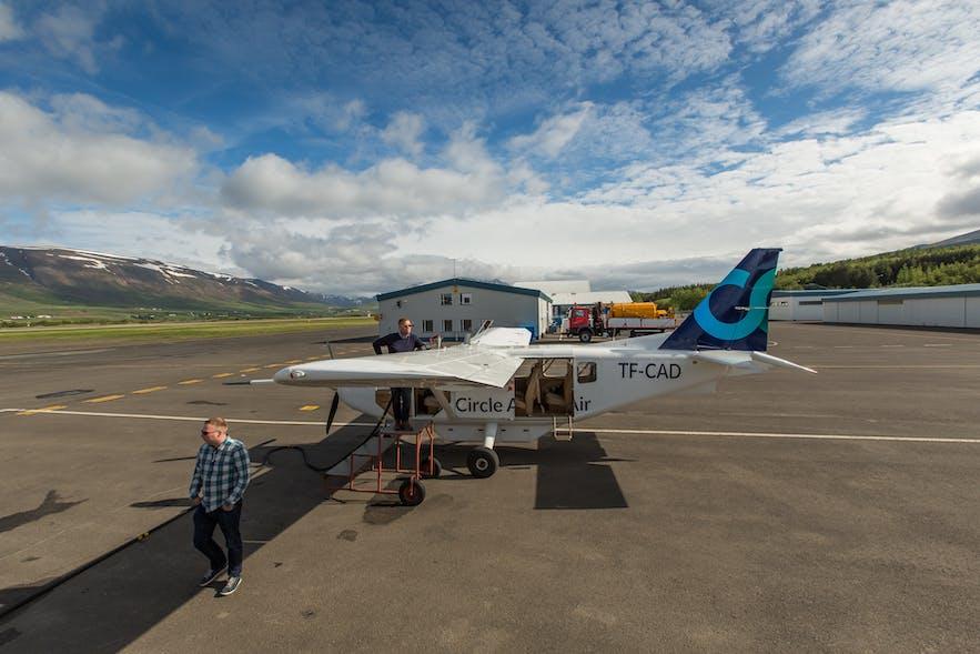 从阿克雷利乘坐小飞机,只需半个小时就能到达冰岛最北的格里姆塞岛