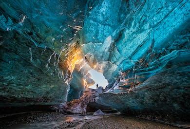 Excursion de 2 jours grotte de glace | Cascades, plage de sable noir et Jokulsarlon