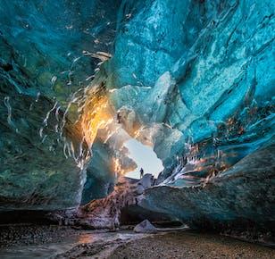 Excursion de 2 jours grotte de glace   Cascades, plage de sable noir et Jokulsarlon