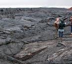 Da die Lavafelder des Krafla-Vulkans in Nordisland noch so jung sind, sind sie noch nicht mit Moos bedeckt.