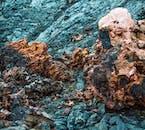 北アイスランドにあるクラプラ火山周辺にゴツゴツとする溶岩原が観察できる