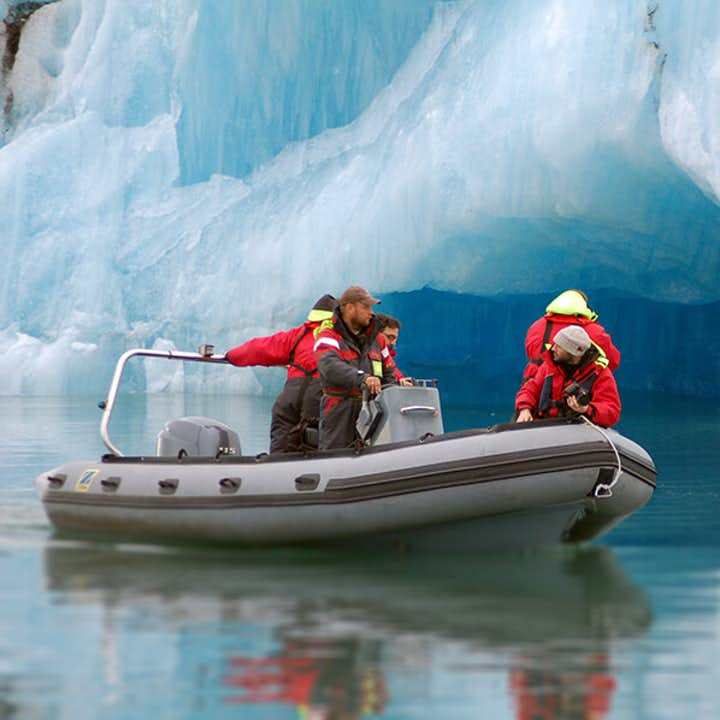Zodiactocht op de Jökulsárlón-gletsjerlagune