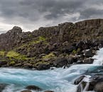 The waterfall Öxarárfoss is located within the UNESCO World Heritage site Þingvellir National Park in South Iceland.