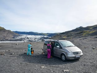 Glacier hiking & South Coast sightseeing - Boots, rainwear & private minivan included