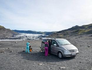 Glacier hiking & South Coast sightseeing - Boots, rainwear & private minivan included