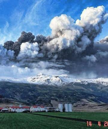 """Eyjafjallajokull eruption in 2010 - Photo found as """"free of copyrights"""""""