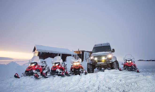 Snowmobile Tour on Langjokull Glacier | Departure From Gullfoss Waterfall