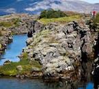 アイスランドの人気No.1観光ルート、ゴールデンサークルにあるシンクヴェトリル国立公園では素晴らしい溶岩の大地が見られる