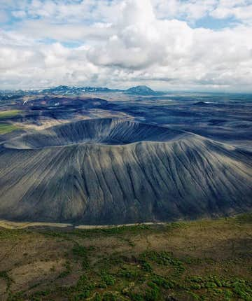 Hverfjall / Hverfell 화산은 북부에 위치하고 있습니다.