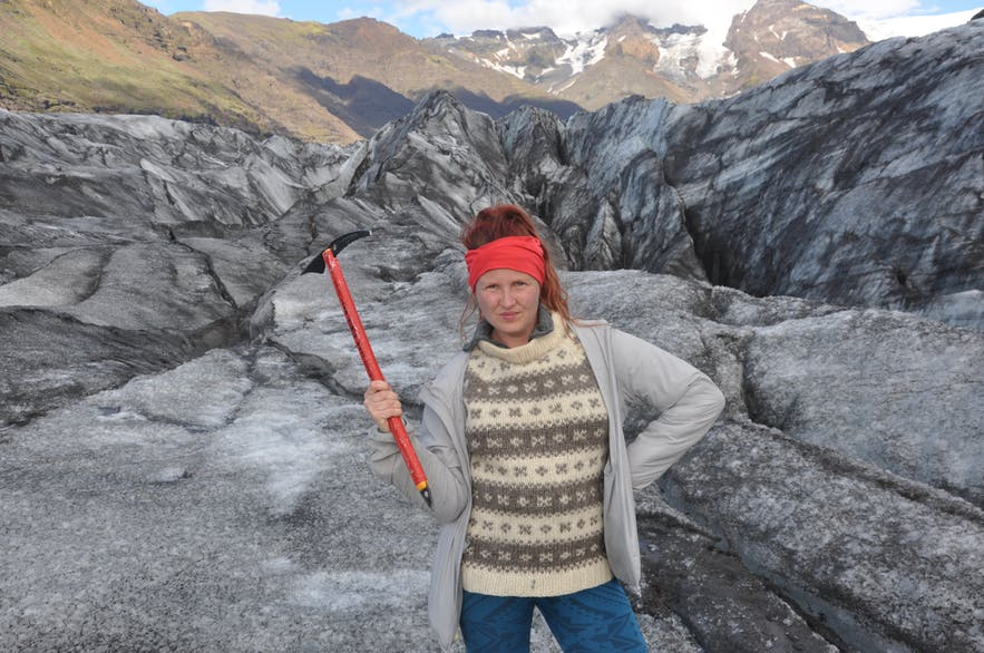 Glacier hiking in Iceland is so much fun!