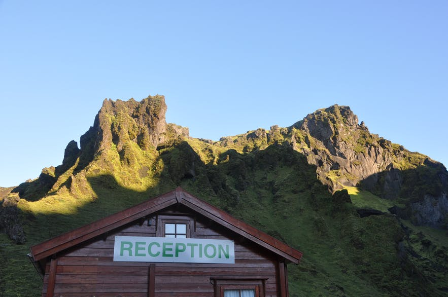 The reception in Þakgil camping site