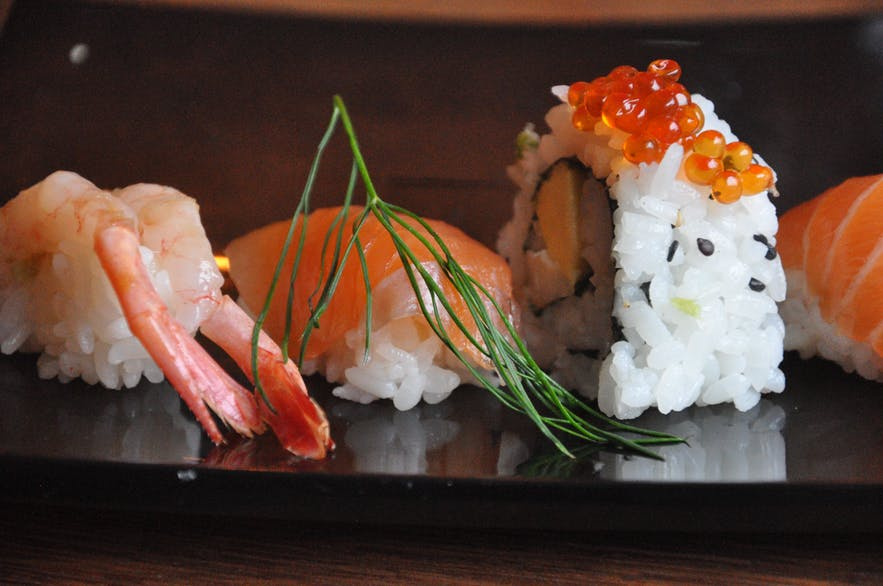 Sushi from North East Sushi Bar in Seyðisfjörður