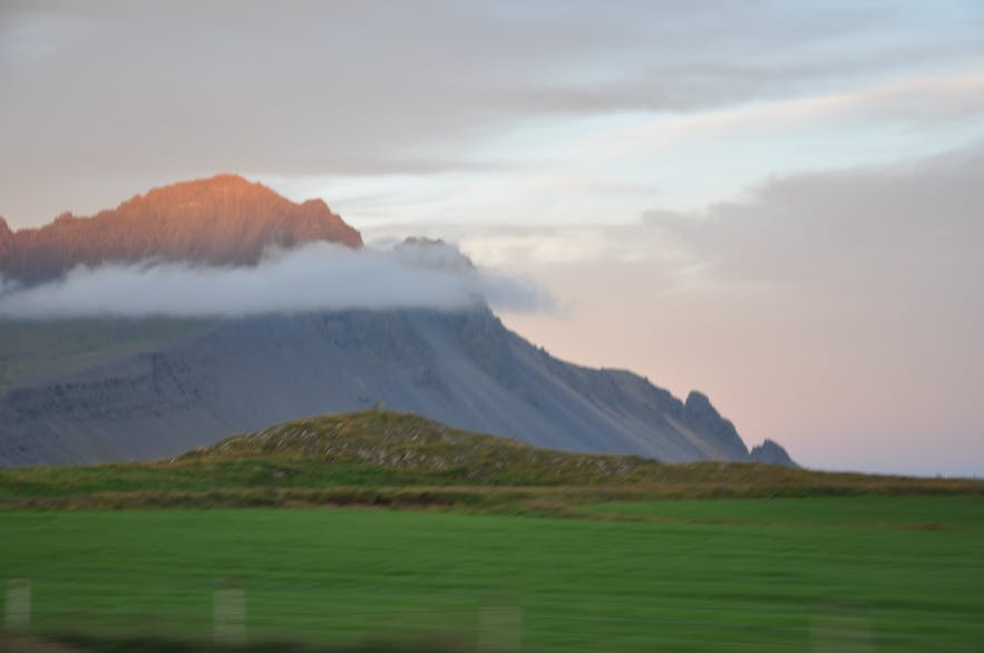 Sunset in East Iceland