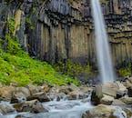Svartifoss waterfall is famous for its hexagonal basalt columns