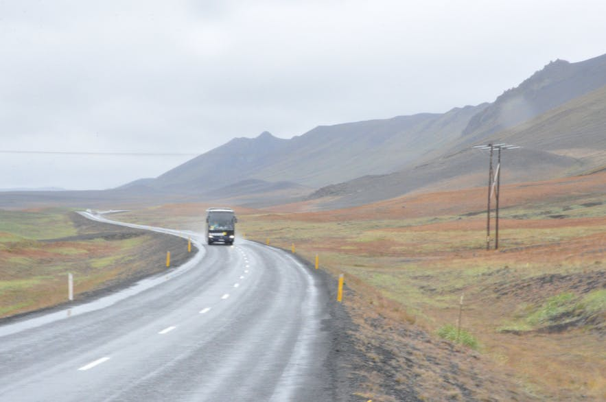Gorgeous landscape round the ring road in North Iceland
