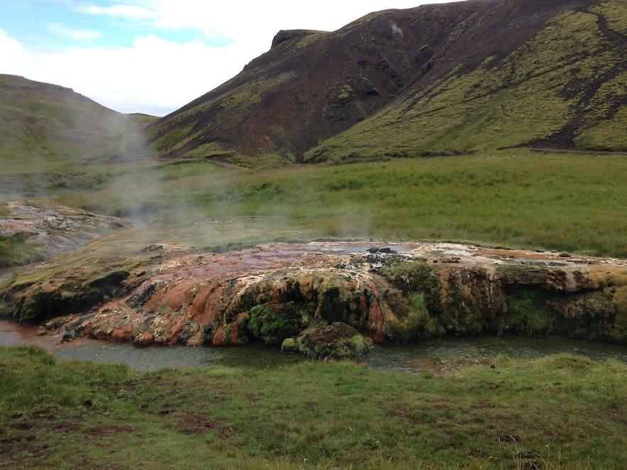 Beautiful surroundings in Reykjadalur valley