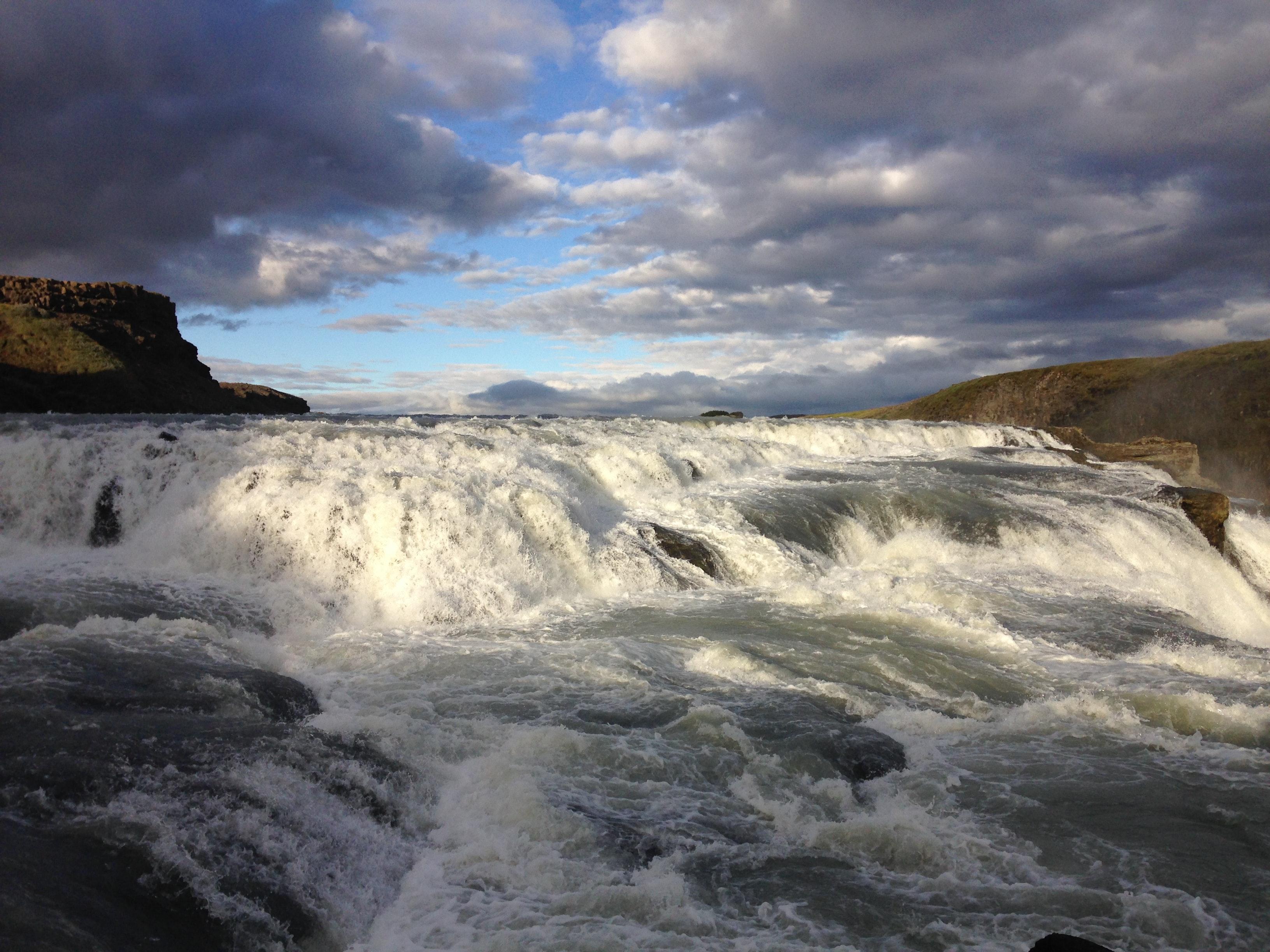 Upper part of Gullfoss waterfall