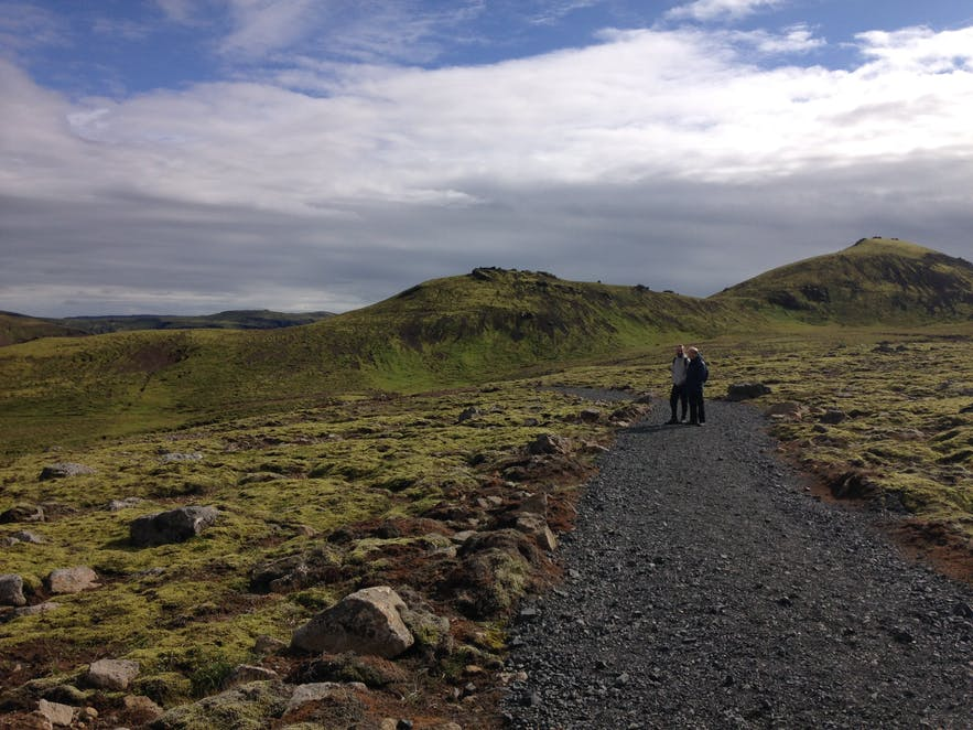 Hiking to Reykjadalur valley