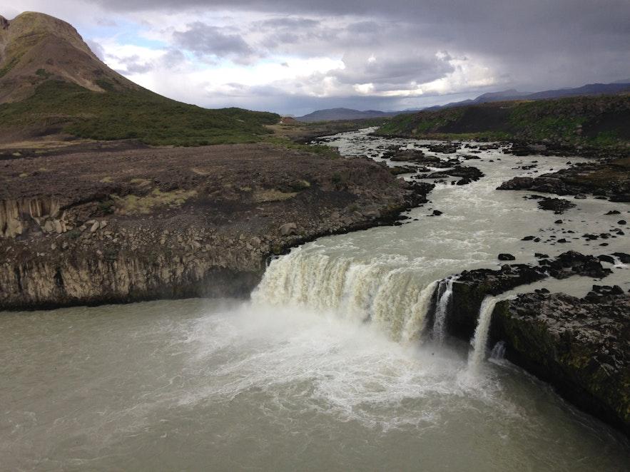 Þjófafoss waterfall in south Iceland