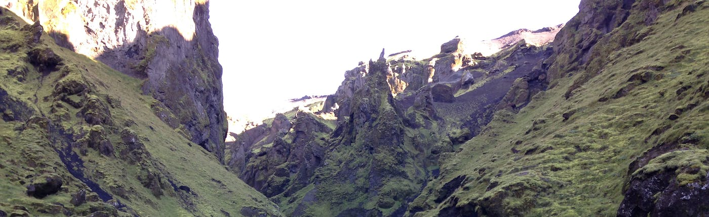 One of Þakgil's canyons