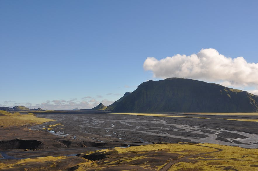 View over Þakgil as we were driving away