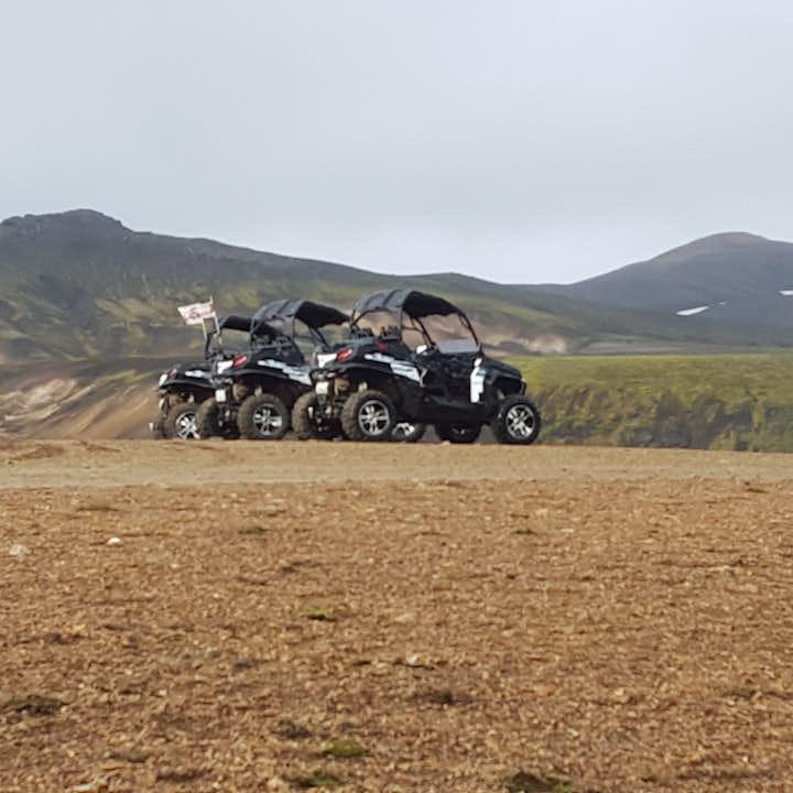 Your buggies await at Landmannalaugar.