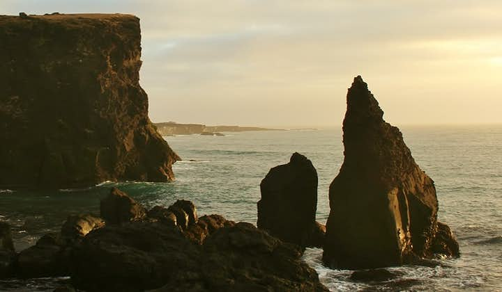 The stunning and steep coastline of the Reykjanes Peninsula in South Iceland.