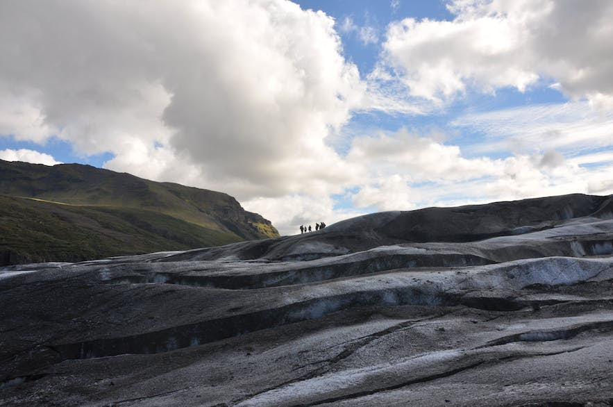 Glacier hiking in Iceland presents you with all sorts of icy landscape