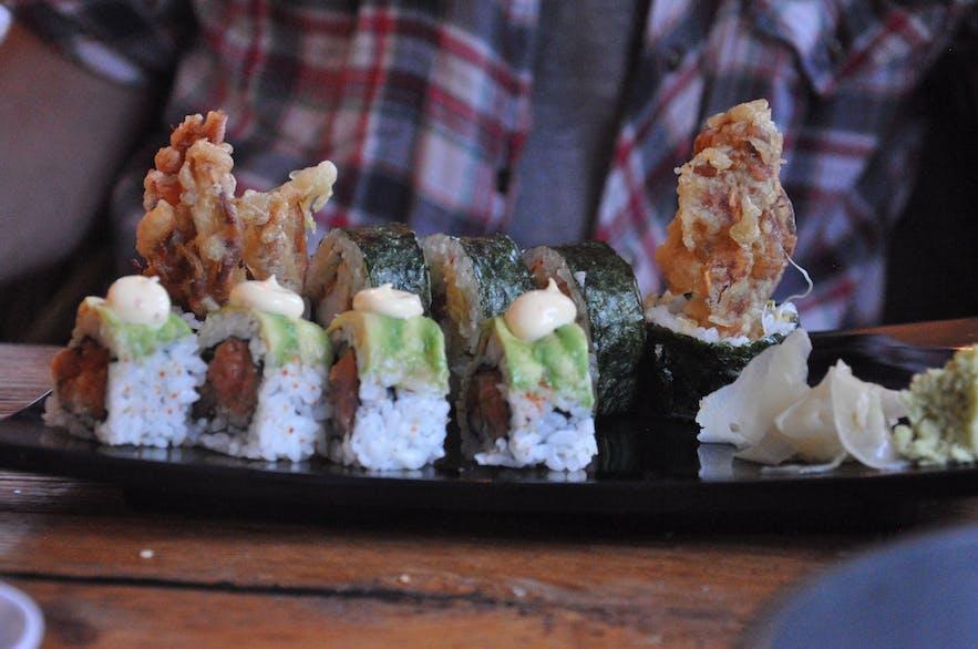 Great sushi in Seyðisfjörður, East Iceland
