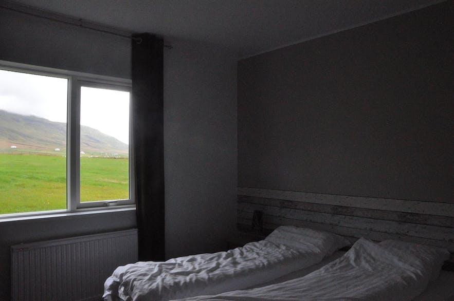 Great views from sleek rooms in Álfheimar Hotel, East Iceland