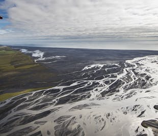 Airplane Tour of Skeidararsandur Black Sands & Glacier