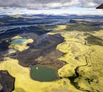The Highlands of Iceland are lined with glacier rivers and dotted with mountains.