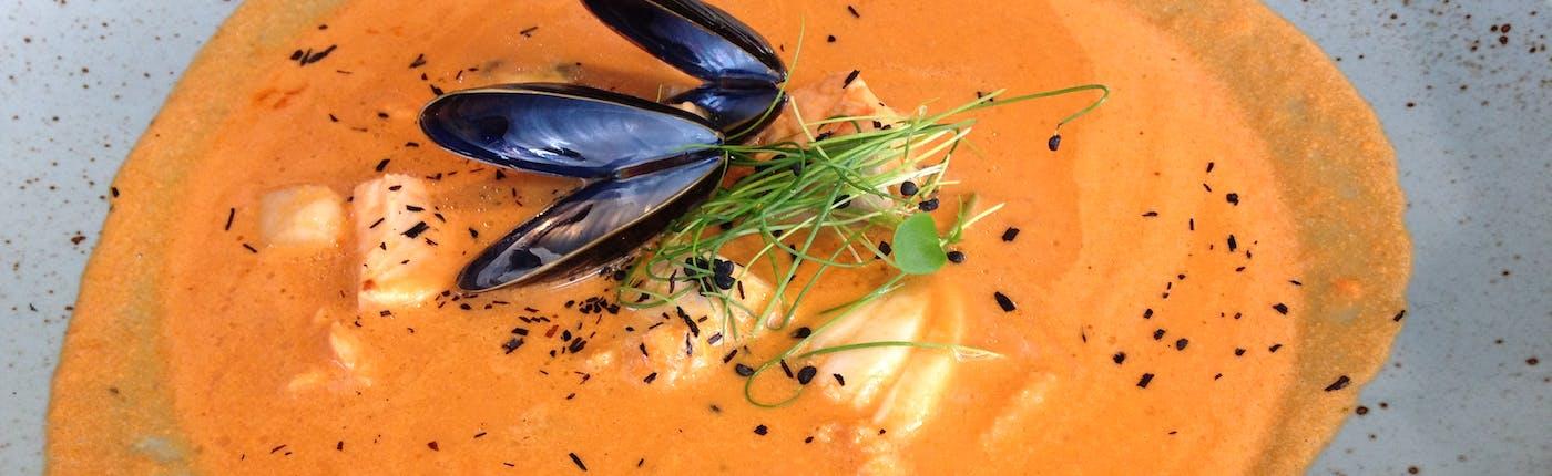 Delicious fish soup at Hvammstangi