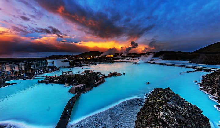 The Blue Lagoon geothermal spa lives up to its name, boasting beautiful azure waters.